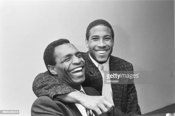 Luther Blissett and John Barnes pose together in April 1987Both are football players for WatfordJohn Barnes played for Watford 1981 to 1987 Luther...