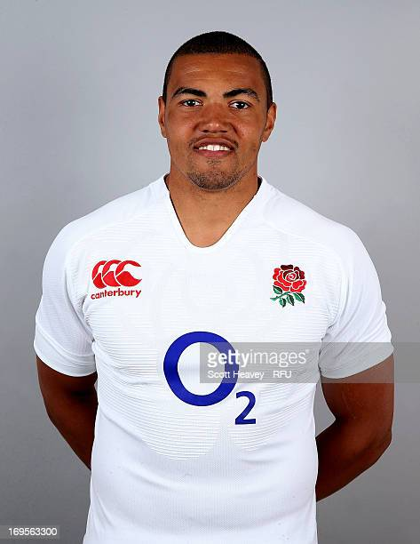 Luther Burrell of England poses before their tour of Argentina at Pennyhill Park on May 27 2013 in Bagshot England