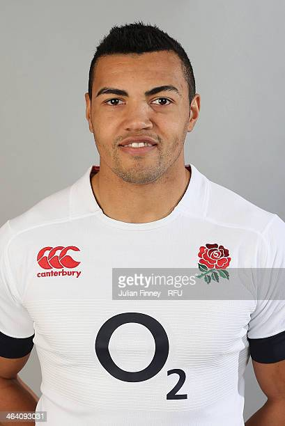 Luther Burrell of England poses for a portrait during the England Six Nations Squad Photo Call at the Penny Hill Hotel on January 20 2014 in Bagshot...