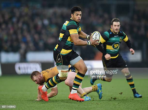 Luther Burrell of Northampton Saints during the Aviva Premiership match between Northampton Saints and Bristol Rugby at Franklin's Gardens on January...