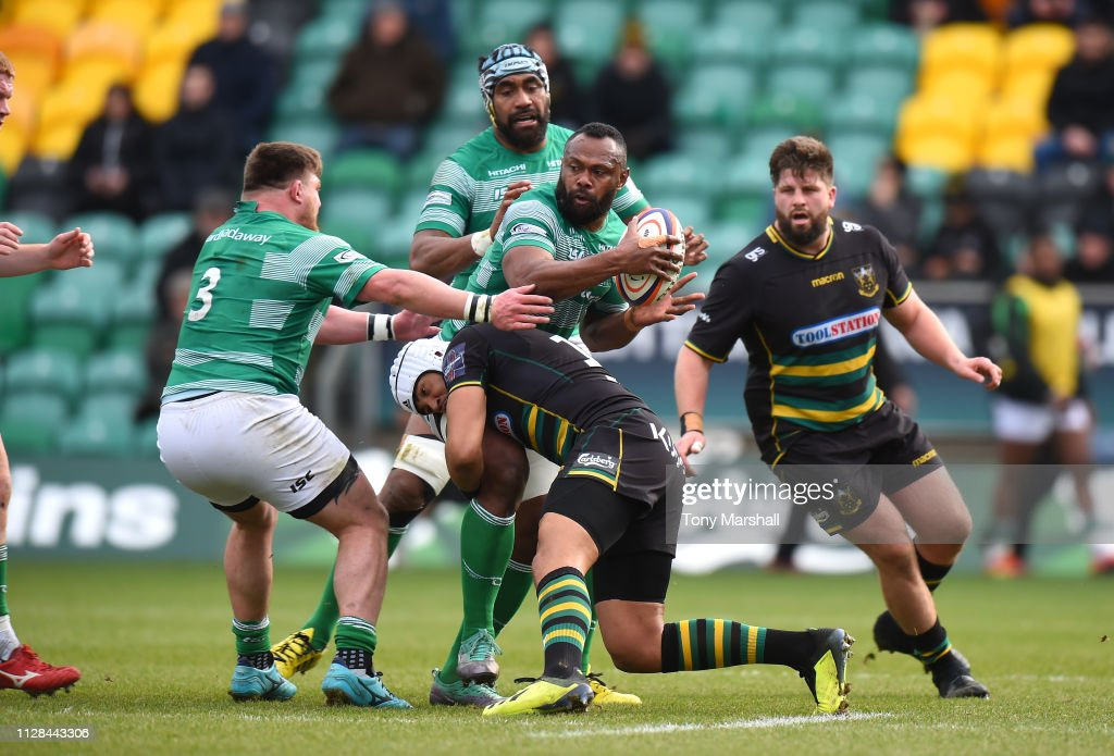 GBR: Northampton Saints v Newcastle Falcons - Premiership Rugby Cup Semi Final