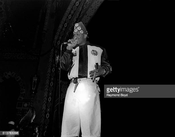 Luther Campbell formerly from 2 Live Crew performs on stage at the New Regal Theater in Chicago Illinois in 1990