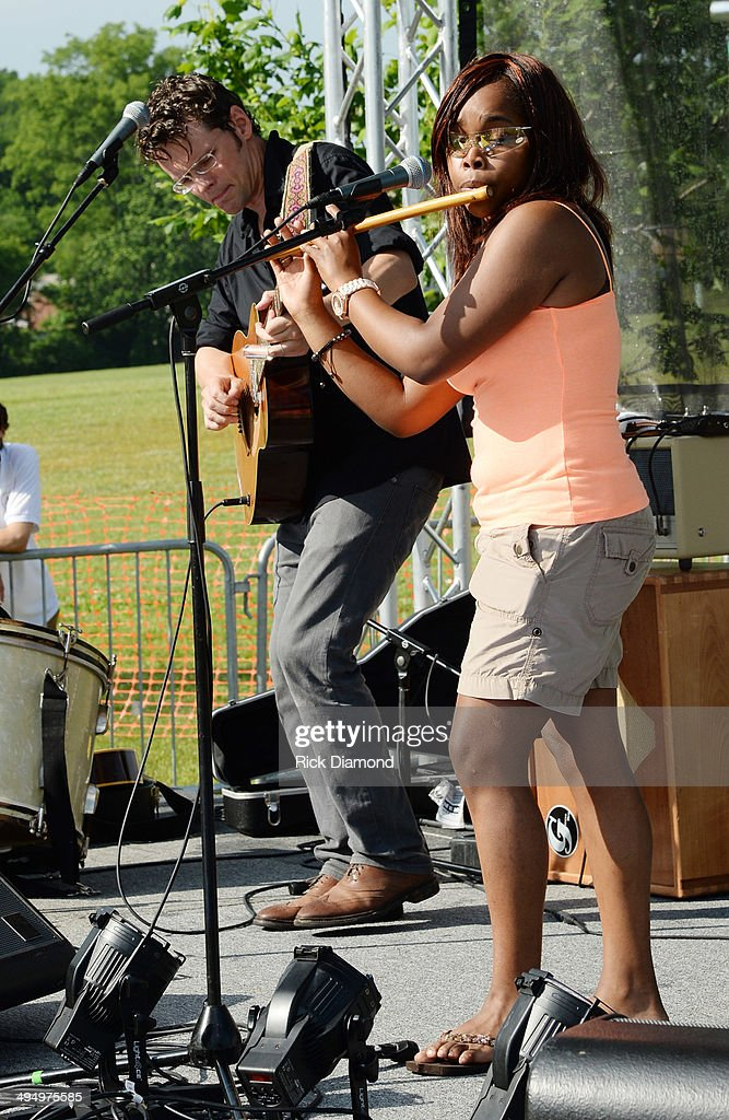 Luther Dickinson performs during Americana's Cross County Lines at The Park at Harlinsdale Farm on May 31, 2014 in Franklin, Tennessee.