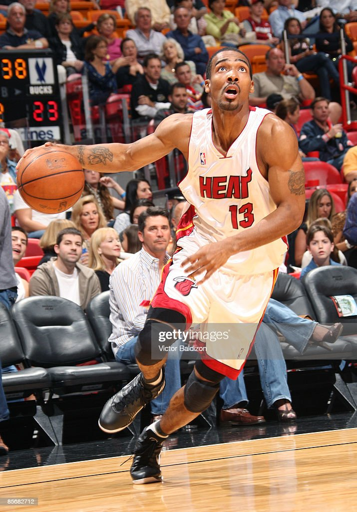 Luther Heats Up The Screen: Luther Head Of The Miami Heat Drives Against The Milwaukee