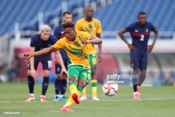 Luther Singh of Team South Africa has their penalty saved during the Men's First Round Group A match between France and South Africa on day two of...