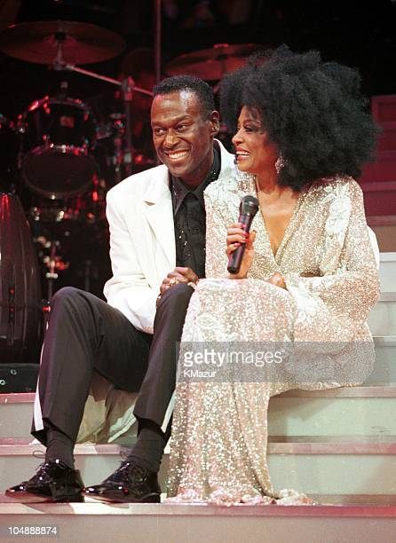 Luther Vandros and Diana Ross during Luther Vandros and Diana Ross Concert in Philadelphia Pennsylvania United States