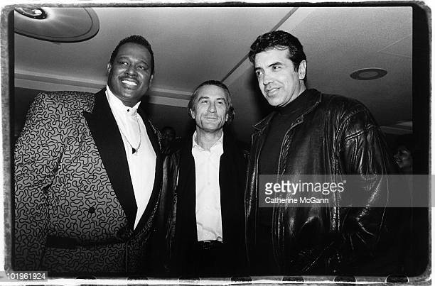 Luther Vandross 19512005 Robert DeNiro and Chazz Palminteri pose for a photo at a party in New York City New York
