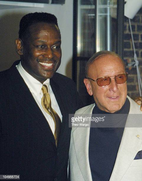 Luther Vandross and Clive Davis during Luther Vandross celebrates the release of his new record 'Luther Vandross' at the Hudson Hotel in New York...