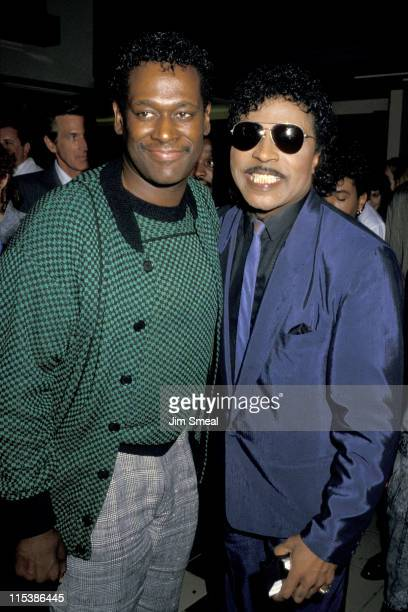 Luther Vandross and Little Richard during 'Hail Hail Rock n' Roll' Los Angeles Premiere at AMC Theater in Los Angeles California United States