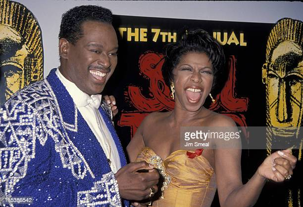 Luther Vandross and Natalie Cole during 7th Annual Soul Train Music Awards at Shrine Auditorium in Los Angeles California United States