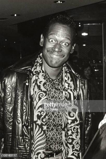 Luther Vandross arriving from New York City during Luther Vandross Arriving At LAX From New York at Los Angeles International Airport in Los Angeles...