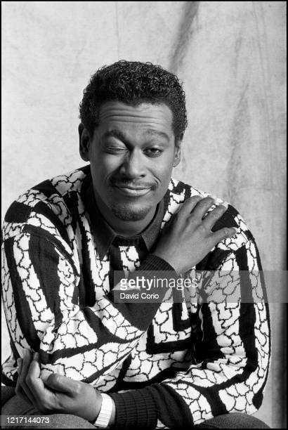 Luther Vandross at Holborn Studios London UK on 1 February 1987