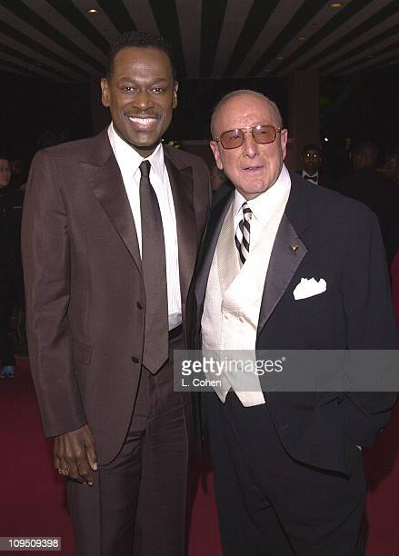 Luther Vandross Clive Davis during The 43rd Annual GRAMMY Awards Clive Davis PreGRAMMY Party at Beverly Hills Hotel in Beverly Hills California...