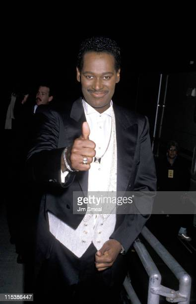 Luther Vandross during 4th Soul Train Music Awards at Shrine Auditorium in Los Angeles California United States