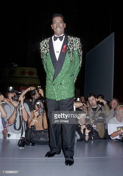 Luther Vandross during John Paul Gaultier Fashion Show To Benefit AmFar at Shrine Auditorium in Los Angeles California United States