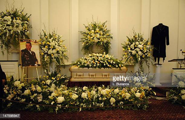 Luther Vandross In State during Luther Vandross Memorial July 6 2005 at Frank E Campbell Funeral Chapel in New York City New York United States