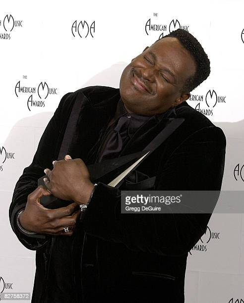 Luther Vandross in the press room at the 29th Annual American Music Awards