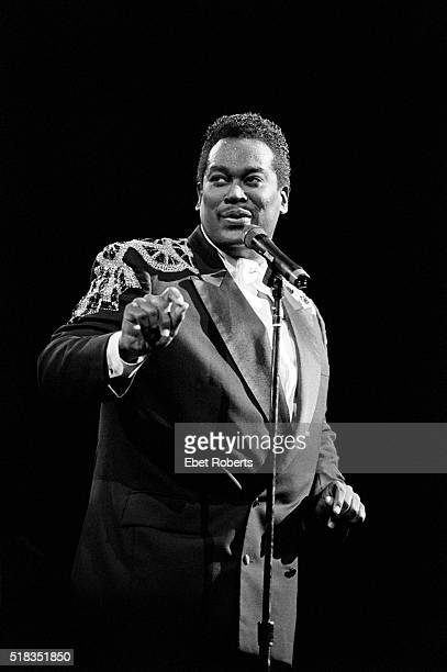 Luther Vandross performing at Madison Square Garden in New York City on October 5 1988