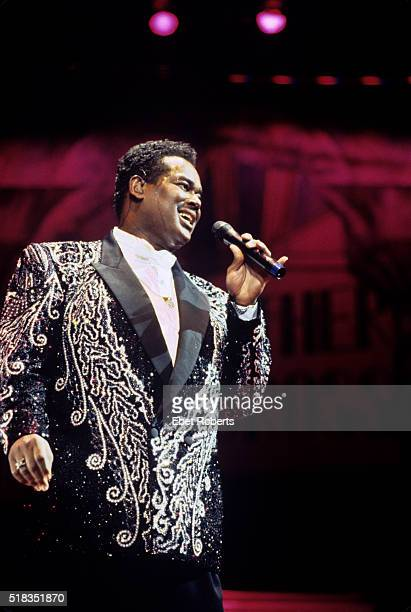 Luther Vandross performing at Madison Square Garden in New York City on October 5 1991
