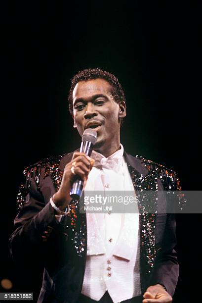 Luther Vandross performing at Madison Square Garden in New York City on June 5 1987