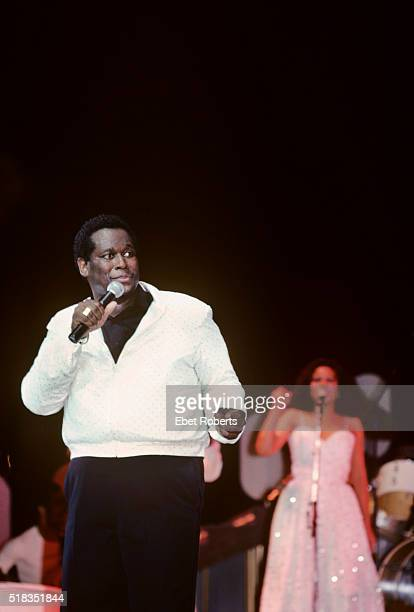 Luther Vandross performing at Radio City Music Hall in New York City on November 12 1982