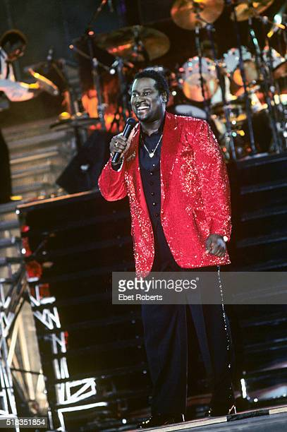 Luther Vandross performing at Radio City Music Hall in New York City on January 27 1984