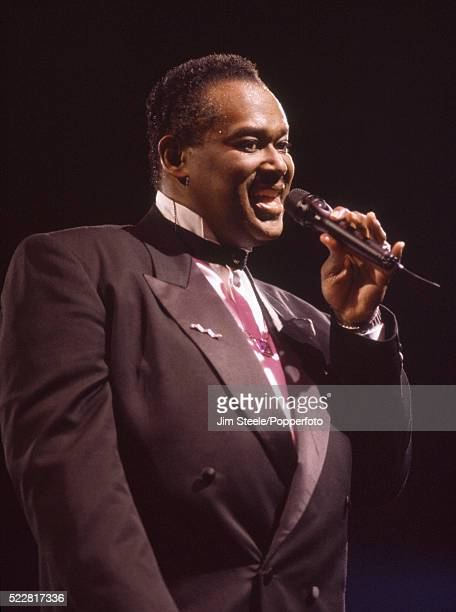 Luther Vandross performing on stage at the Wembley Arena in London on the 30th November 1993