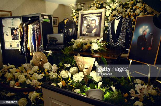 Luther Vandross Tribute Inside Chapel during Luther Vandross Memorial July 6 2005 at Frank E Campbell Funeral Chapel in New York City New York United...