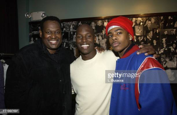 Luther Vandross Tyrese and Mario during Tyrese Showcase Concert Hosted By J Records at China Club in New York NY United States