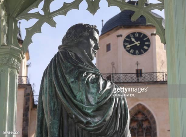 Lutherdenkmal Lutherstadt Wittenberg Sachsen Anhalt Reformator Martin Luther Denkmal von Gottfried Schadow 1821