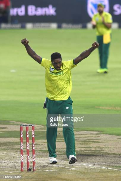 Lutho Sipamla of the Proteas during the 3rd KFC T20 International match between South Africa and Sri Lanka at Bidvest Wanderers Stadium on March 24,...