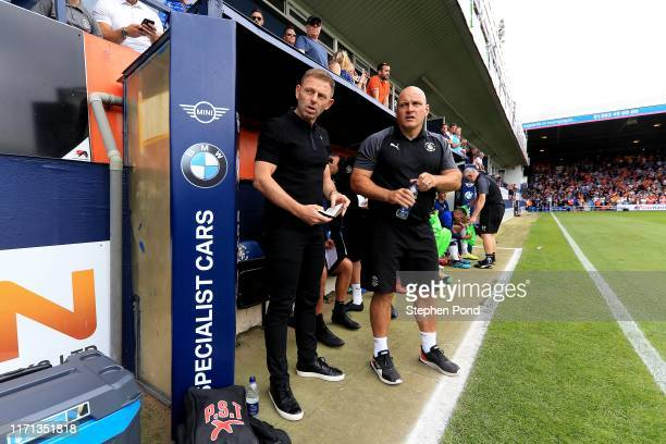 Luton Town Manager Graeme Jonesduring the Sky Bet Championship match between Luton Town and Huddersfield Town at Kenilworth Road on August 31, 2019...