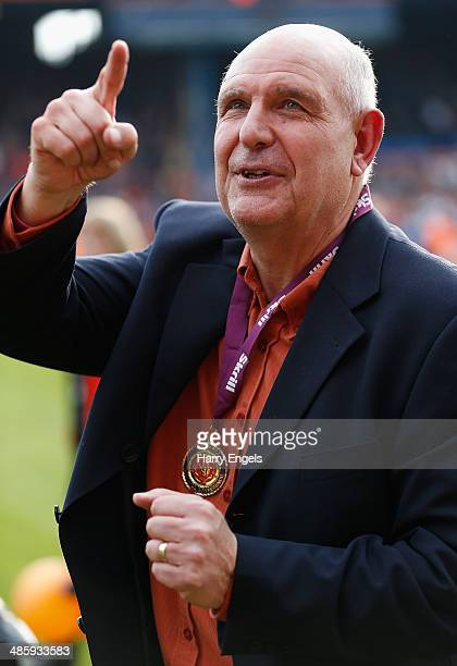 Luton Town manager John Still celebrates following the Skrill Conference Premier match between Luton Town and Forest Green at Kenilworth Road on...