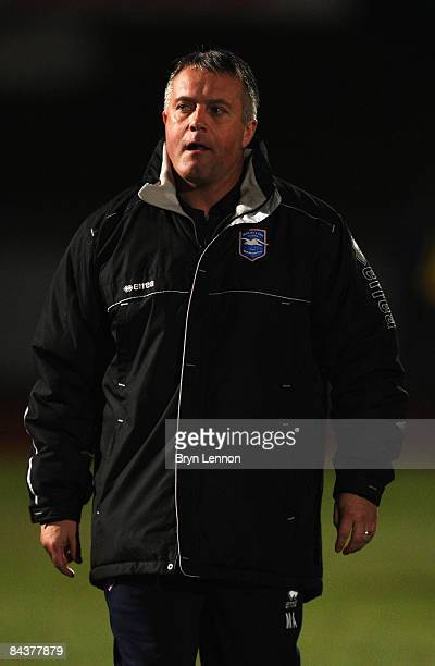 Luton Town Manager Micky Adams looks on during leg one of the Johnstone's Paint Trophy Southern Area Final between Brighton Hove Albion and Luton...