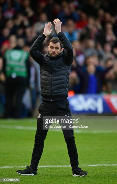 Luton Town manager Nathan Jones during the Sky Bet League Two match between Luton Town and Lincoln City at Kenilworth Road on January 1 2018 in Luton...