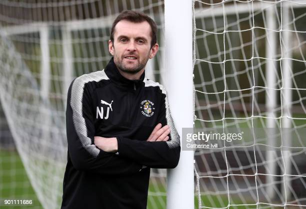 Luton Town manager Nathan Jones poses during the media access day ahead of FA Cup Third Round match against Newcastle United on January 4, 2018 in...