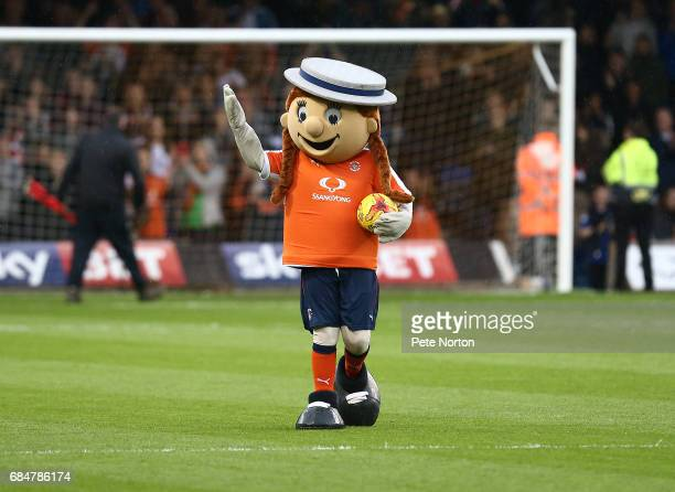 Luton Town mascot Happy Hatty prior to the Sky Bet League Two Play off Semi Final Second Leg match between Luton Town and Blackpool at Kenilworth...