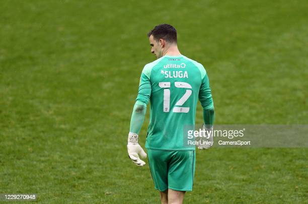 Luton Town's Simon Sluga during the Sky Bet Championship match between Sheffield Wednesday and Luton Town at Hillsborough Stadium on October 24 2020...