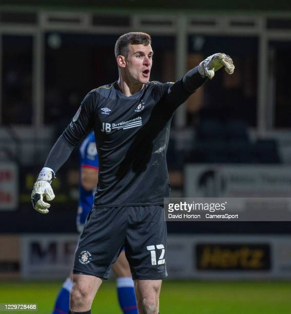 Luton Town's Simon Sluga was put under a lot pressure by Blackburn Rovers late in the 2nd half during the Sky Bet Championship match between Luton...