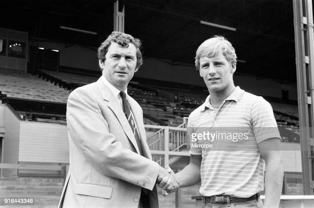 Luton's new signing Paul Walsh with manager David Pleat 19th July 1982