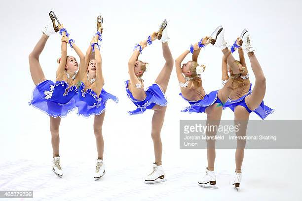 Lutricia Bock of Germany performs during the Women's Free Skating on Day 3 of the ISU World Junior Figure Skating Championships at Tondiraba Ice...