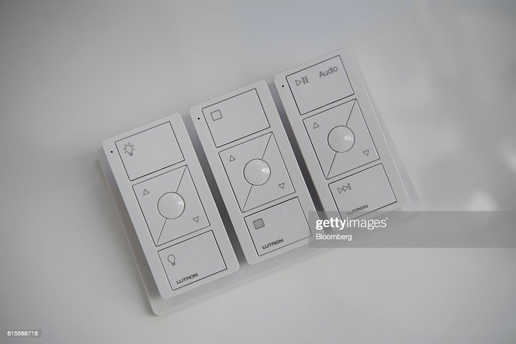 Lutron Electronics Co. Pico remote wireless controllers sit on display inside a home at the Lennar Corp. Marina Shores development in Alameda, California, U.S., on Monday, Oct. 17, 2016. As iPhone sales growth slows, Apple Inc. is teaming up with a handful of builders to inch its way into the market for Internet-connected home furnishings, a nascent field that has attracted rivals like Alphabet Inc.s Google and Amazon.com. Photographer: David Paul Morris/Bloomberg via Getty Images