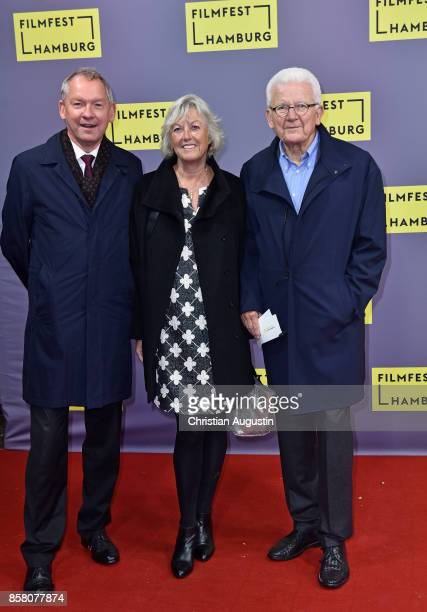 Lutz Marmor Ines Plog and Jobst Plog attend the premiere of 'Lucky' during the opening night of Hamburg Film Festival 2017 at Cinemaxx Dammtor on...