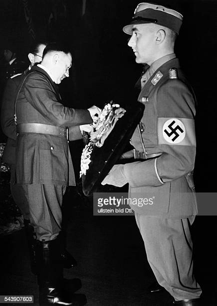 Lutze Viktor Officer SAcommander Germany*28121890 Adolf Hitler at the memorial ceremony / state funeral for Lutze in the Neue Reichskanzlei...