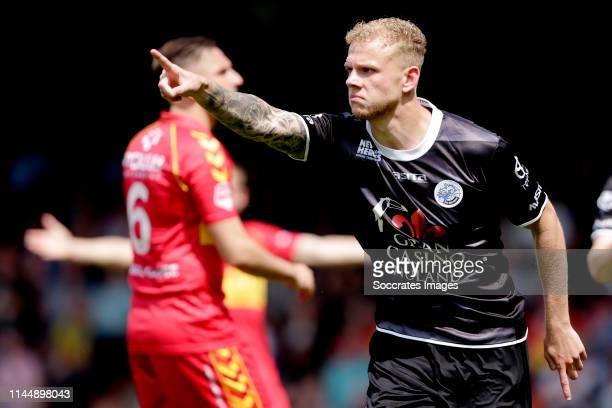 Luuk Brouwers of FC Den Bosch celebrates 12 during the Dutch Keuken Kampioen Divisie match between Go Ahead Eagles v FC Den Bosch at the De...