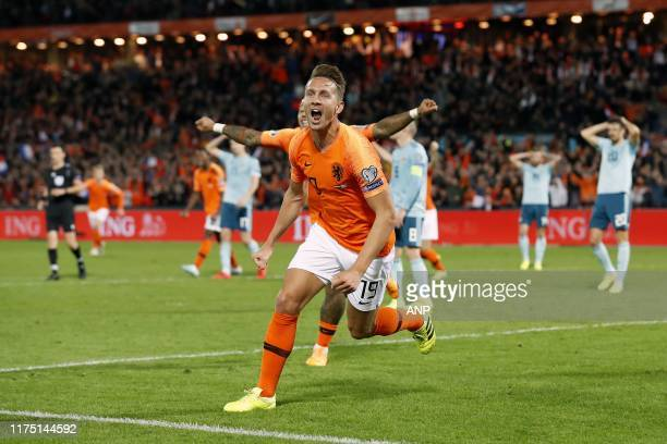 Luuk de Jong of Holland, Memphis Depay of Holland during the UEFA EURO 2020 qualifier group C qualifying match between The Netherlands and Northern...