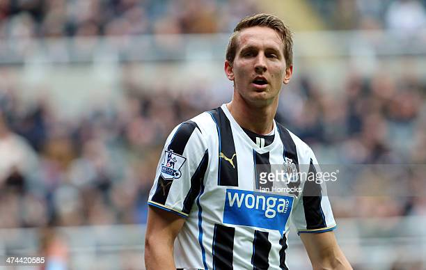 Luuk De Jong of Newcastle United during the Barclays Premier League match between Newcastle United and Aston Villa at St James' Park on February 23,...