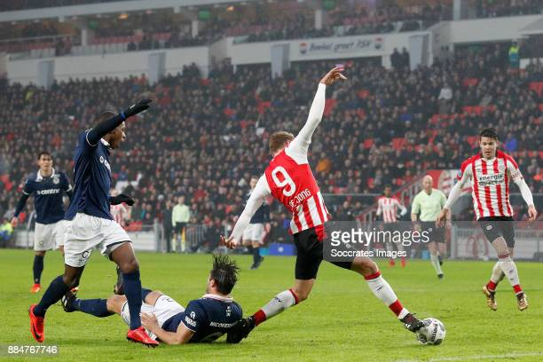 Luuk de Jong of PSV scores the first goal to make it 10 during the Dutch Eredivisie match between PSV v Sparta at the Philips Stadium on December 3...