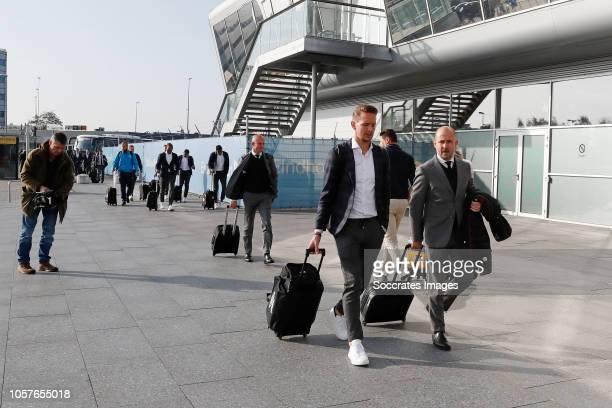 Luuk de Jong of PSV Thijs Slegers of PSV during the Arrival PSV in London on November 5 2018 in London Netherlands