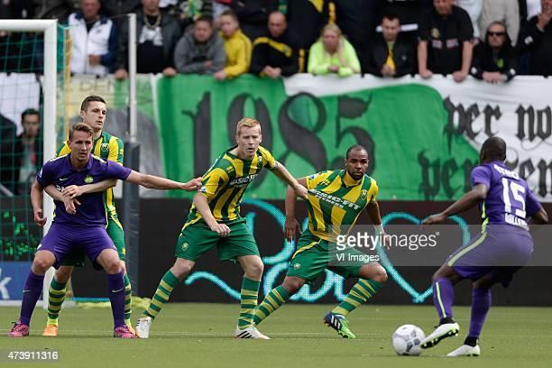 Luuk de Jong of PSV Timothy Derijck of ADO Den Haag Mike van Duinen of ADO Den Haag Wilson Eduardo of ADO Den Haag Jetro Willems of PSV during the...